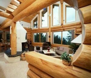 фото дом из рубленного бревна