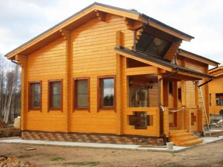 строим дома из клееного бруса