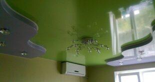 натяжные потолки зеленого цвета