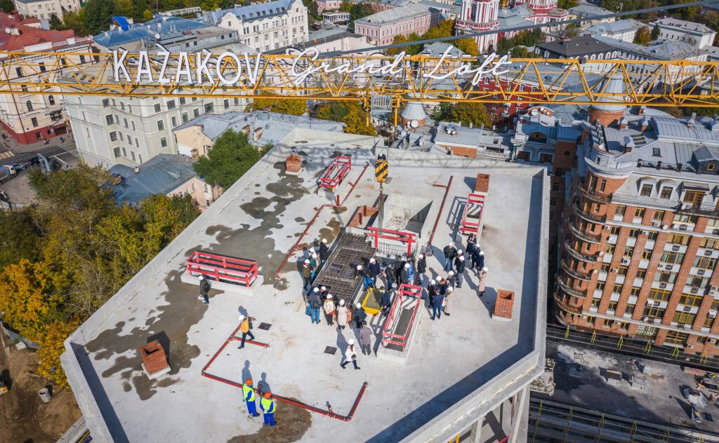 Завершены монолитные работы на комплексе Kazakov Grand Loft